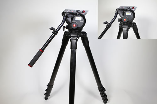 Manfrotto MPRO 536 Stativ mit 509HD